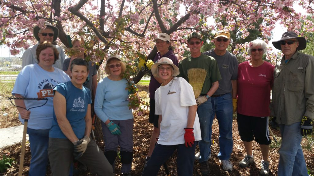 Master Gardener volunteers at Spring Clean-up