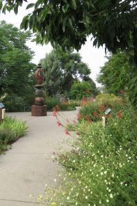 path, sculpture in Broomfield Demo Garden